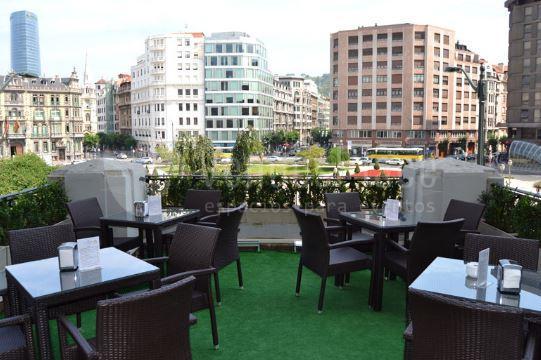 Terraza espectacular en Hotel Carlton