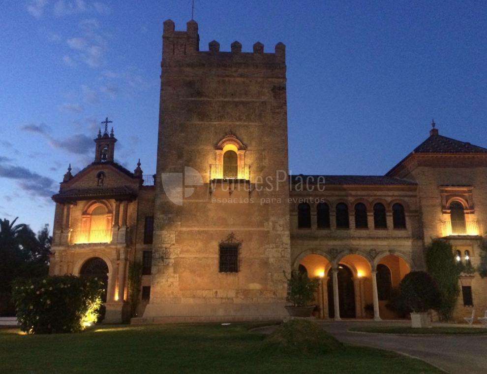 Vista nocturna. Castillo de la Monclova