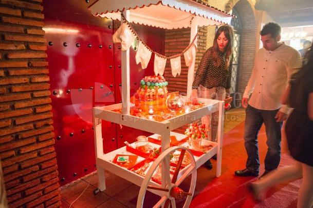 Carro de chuches para vuestra boda en Hacienda Los Conejitos