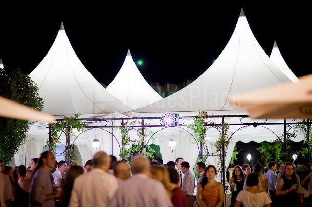 Zona de coctel y barra libre al aire libre en Las Calas en Hacienda Los Conejitos