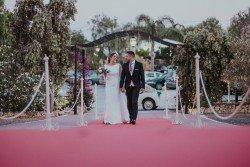 Entrada a ceremonia civil  en Las Calas