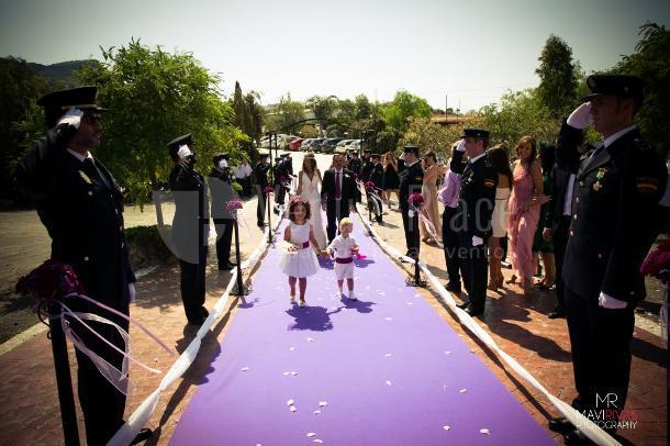 Entrada a ceremonia civil en Hacienda Los Conejitos