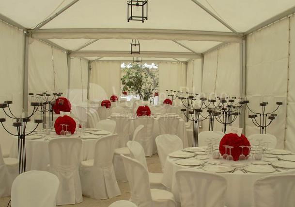 Banquete en carpa Hotel Molino del Arco