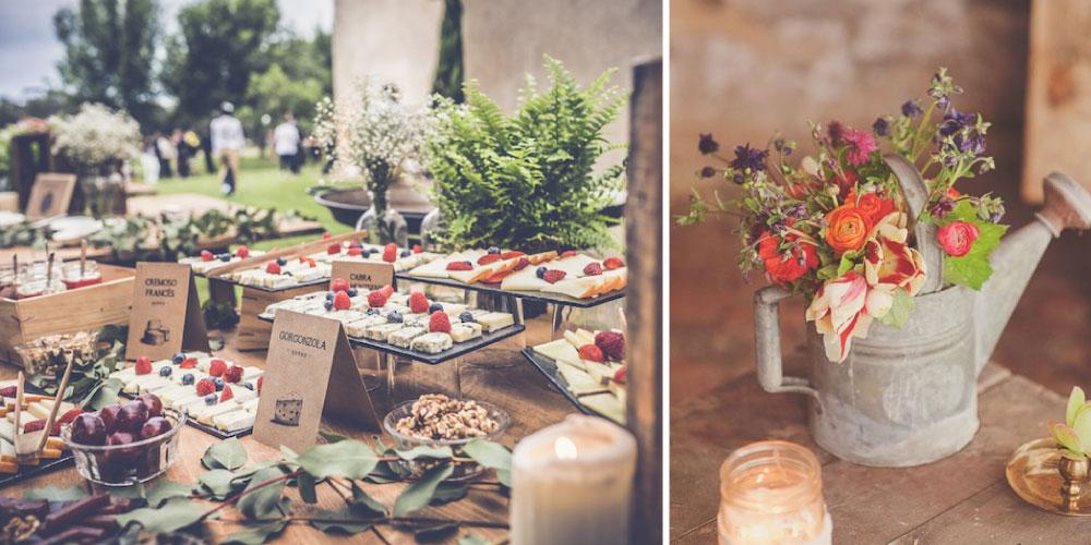 Decoración ecológica boda