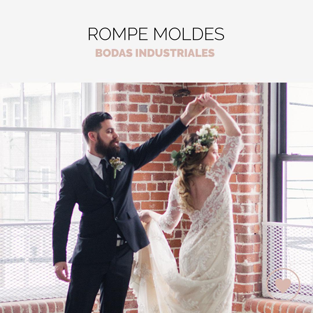 Las últimas tendencias para una boda industrial