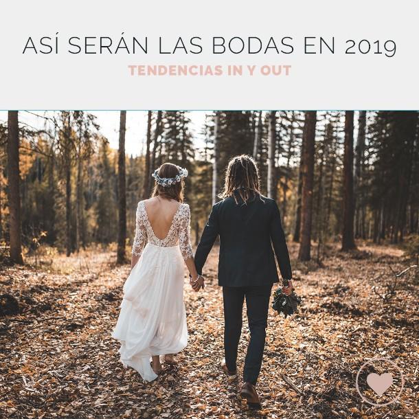 ¿Cómo son las bodas de 2019? &i