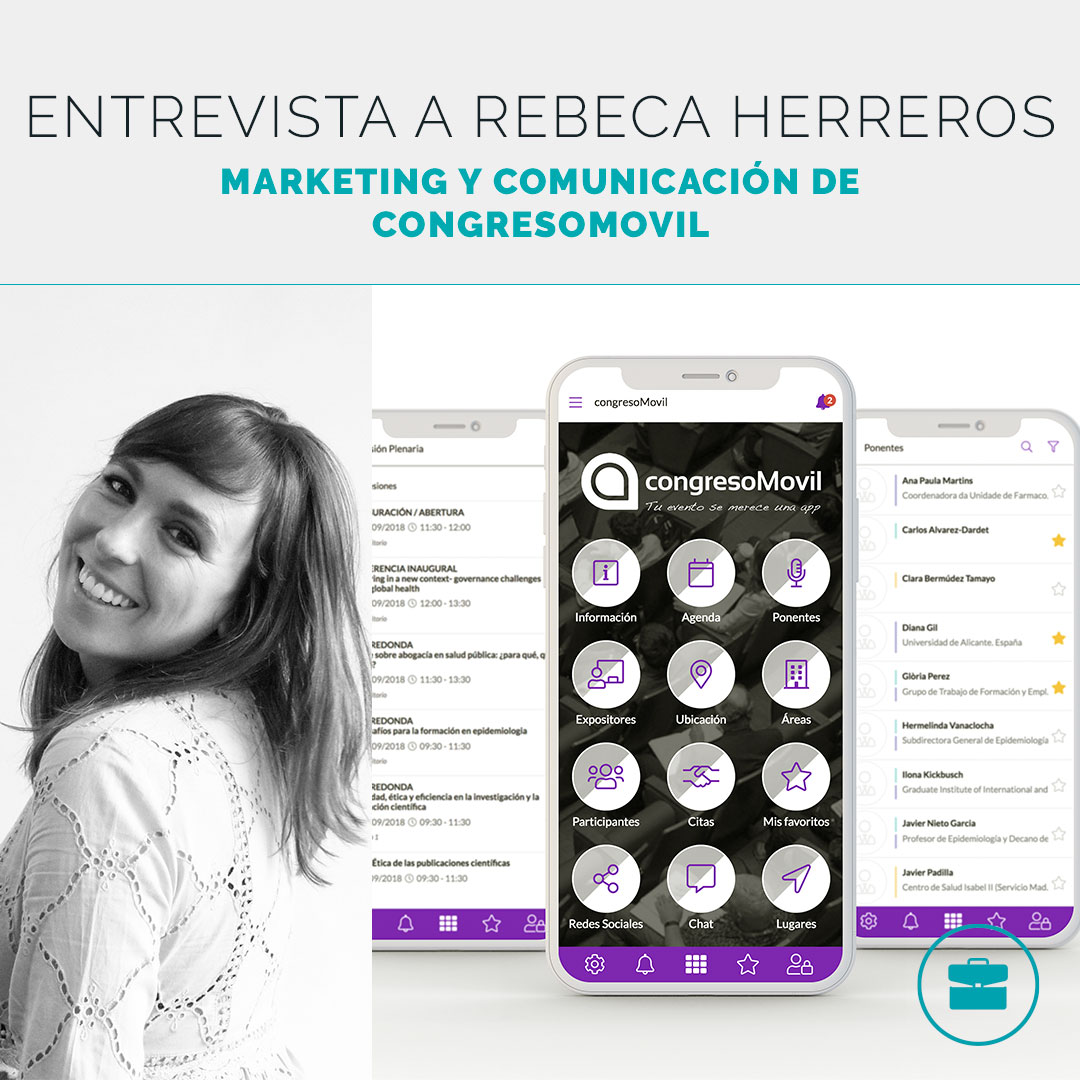 Rebeca Herreros, responsable de Marketing y Comunicación de congresoMovil