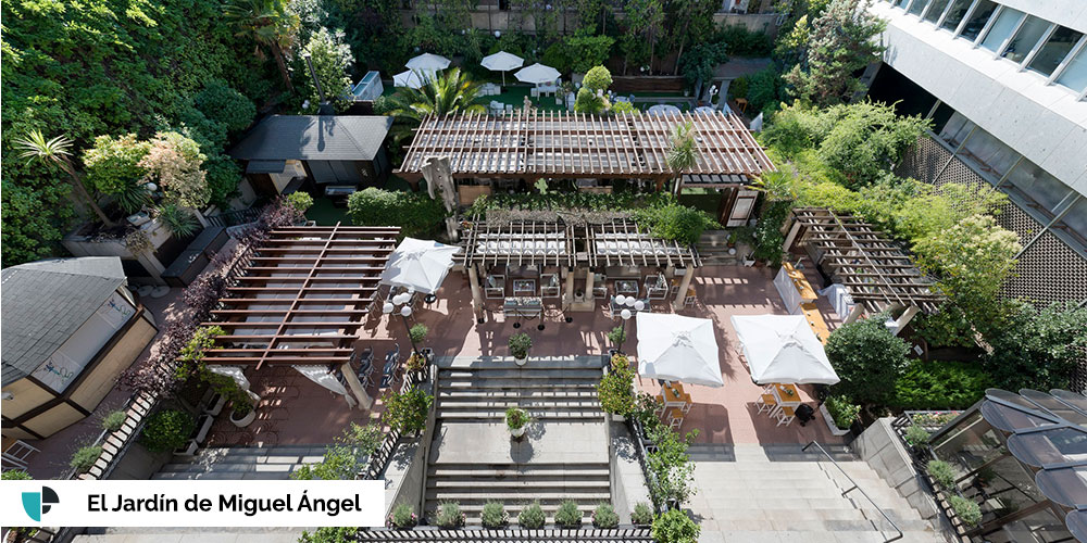 El Jardín de Miguel Ángel terraza