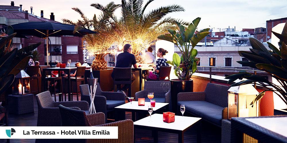 terraza hotel villa emilia