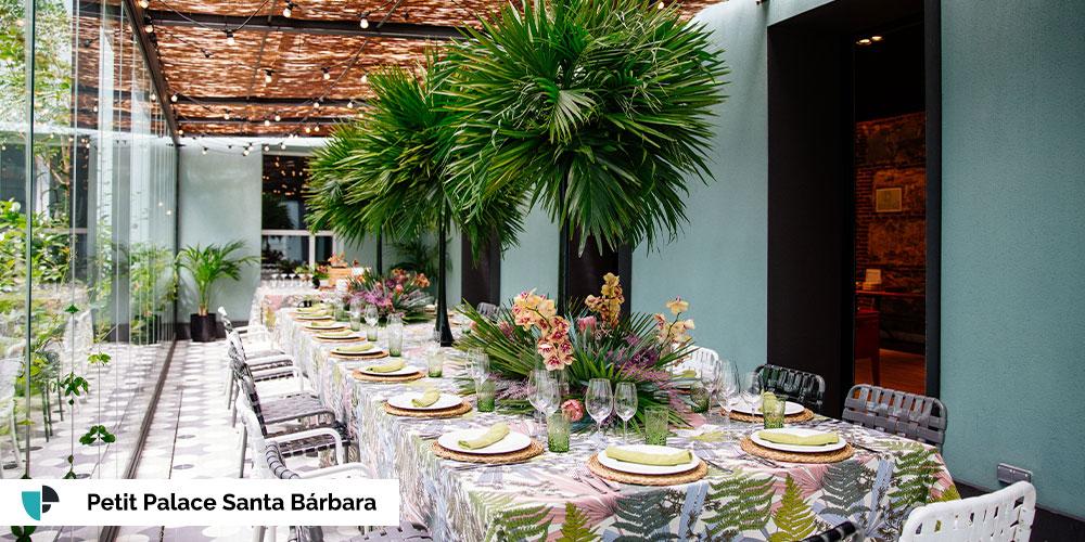 Petit Palace Santa Bárbara terraza eventos