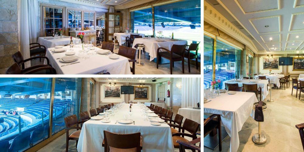 Santiago Bernabeu restaurante reservados