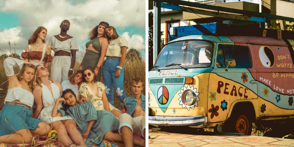 fiesta temática hippie