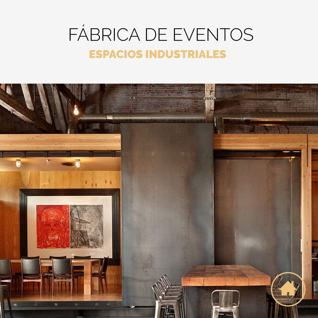 Espacios para eventos de estilo industrial