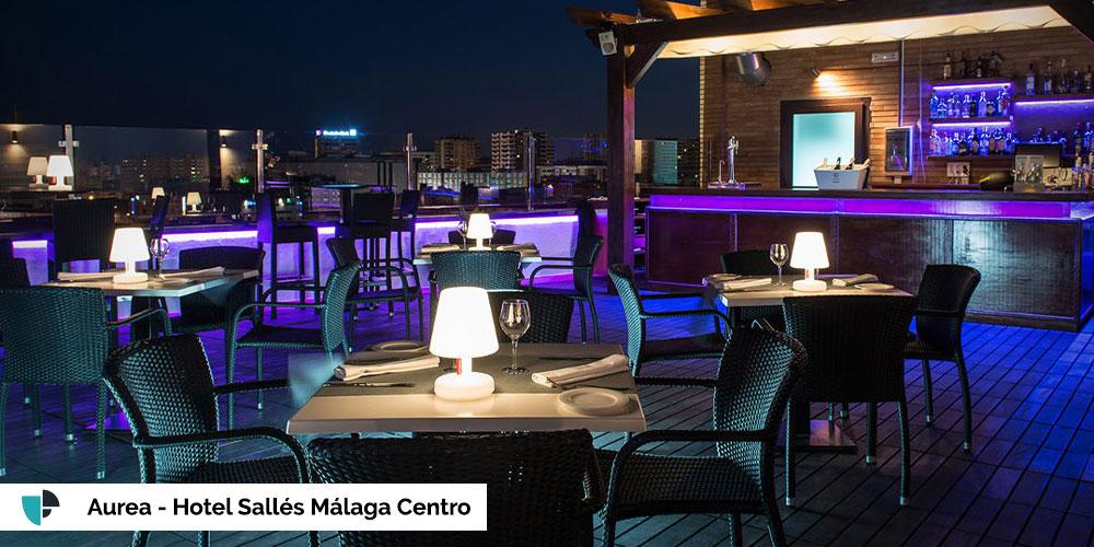 terraza aurea - hotel salles malaga centro