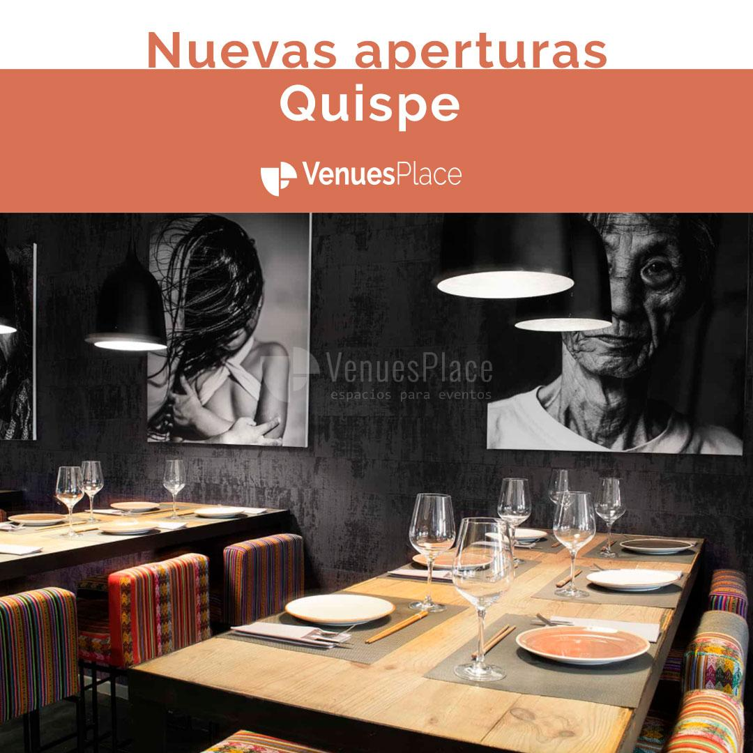 El restaurante peruano Quispe se estrena en Madrid