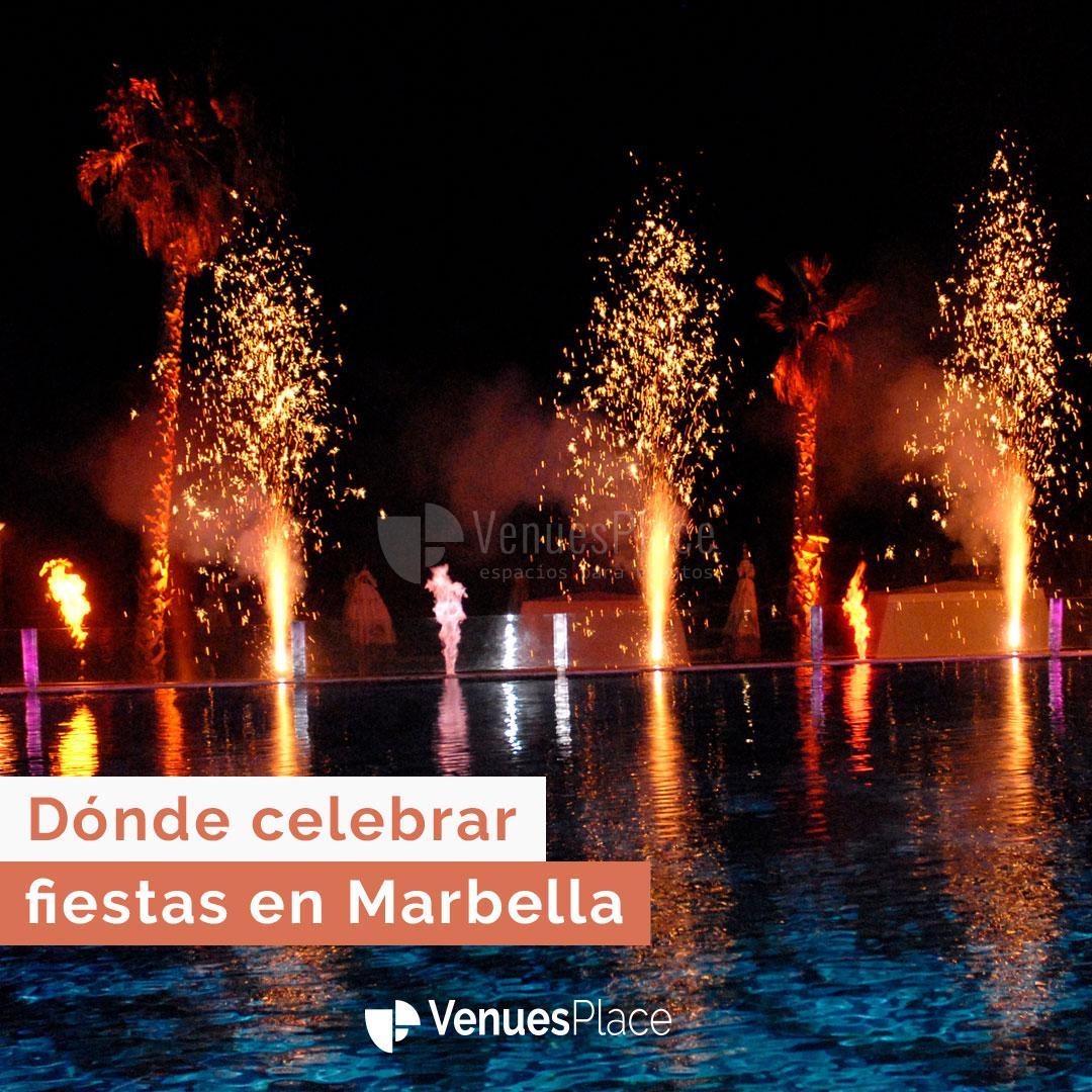 5 lugares especiales para celebrar una fiesta en Marbella