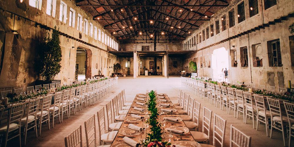 Espacio boda industrial