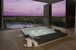 Zona de spa con vistas únicas en Parador de El Saler