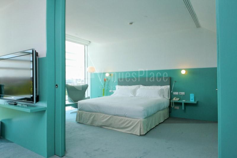 Magnífica habitación doble y con vistas en el Hotel Hiberus
