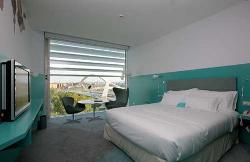 Cálida habitación con unas vistas increibles del Hotel Hiberus