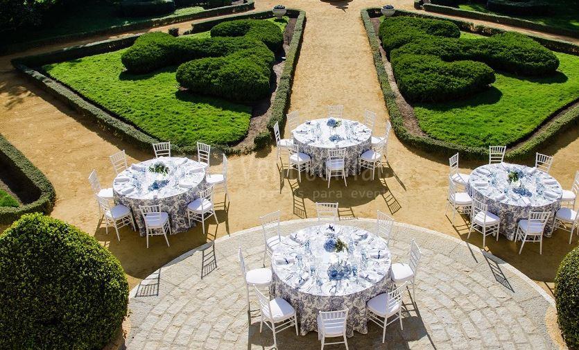Bodas y celebraciones al aire libre en Palacete de los Duques de Pastrana - Vilaplana Catering