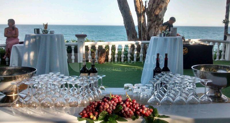 Barra en evento en Restaurante La Viborilla y Malibu Beach club