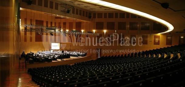 Interior del Auditorio, eventos de empresa en el Palacio Municipal de Congresos de Madrid
